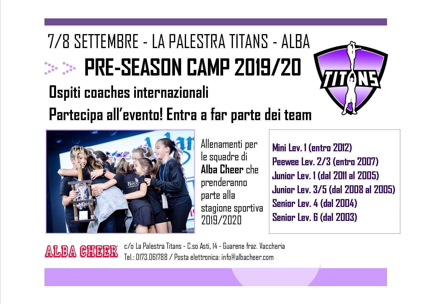 Pre season camp 19-20 F
