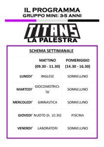Titans Summer Camp - Programma 3-5
