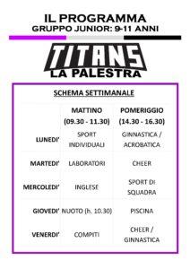 Titans Summer Camp - Programma 9-11