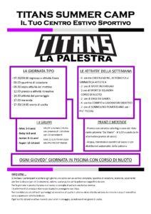 Titans Summer Camp - Programma generale