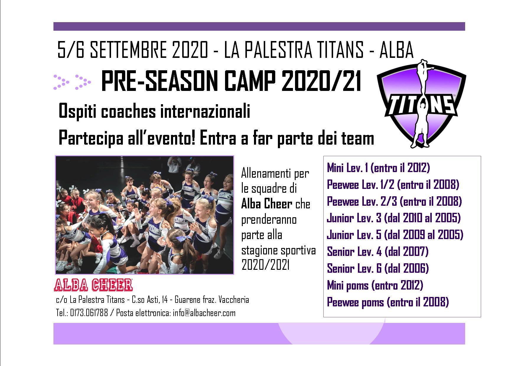 Pre season camp 20-21 - F