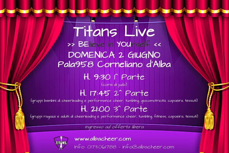 Titans Live - Locandina promo 2