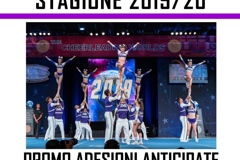 Sconti iscrizioni anticipate 2019_20 cheerleading